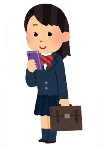 smartphone_schoolgirl_stand_smile
