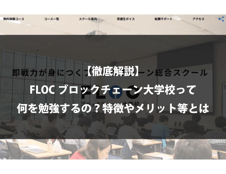 【徹底解説】FLOCブロックチェーン大学校って何を勉強するの?特徴やメリット等とは
