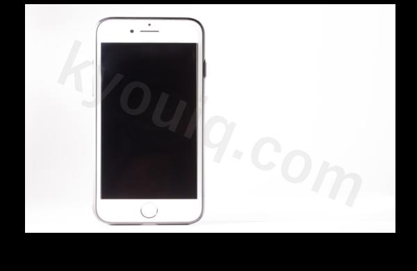白い背景スマートフォン