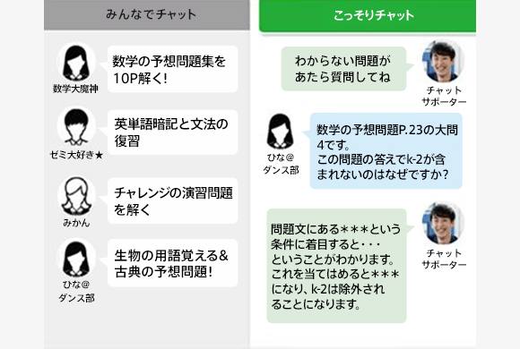 進研ゼミ高校講座_オンライン自習室_特徴4